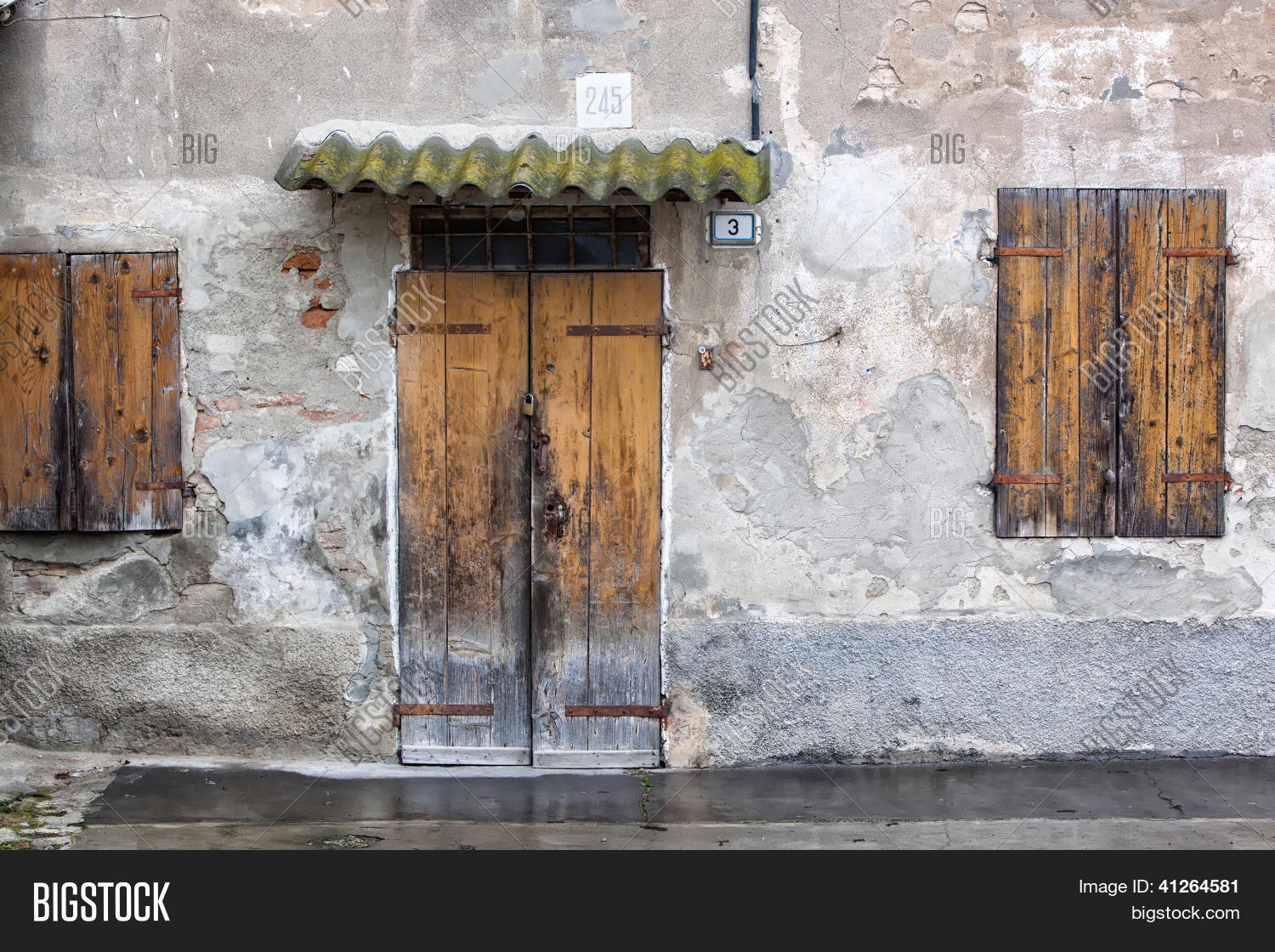 Relatively Old Stucco House, Image & Photo (Free Trial)   Bigstock WA82