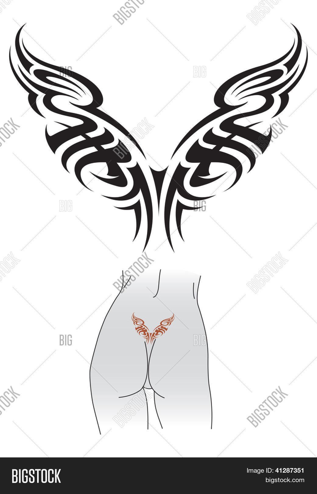 Tribal Styled Tattoo Image Photo Free Trial Bigstock