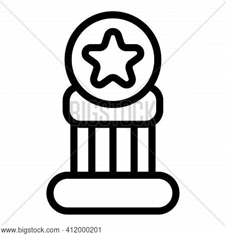 Competition Cup Icon. Outline Competition Cup Vector Icon For Web Design Isolated On White Backgroun