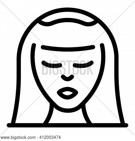 Bride Icon. Outline Bride Vector Icon For Web Design Isolated On White Background