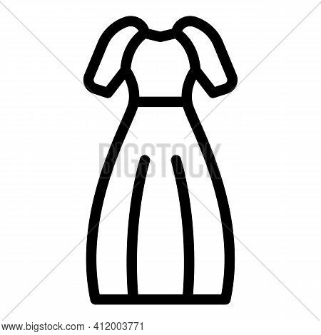 Bride Gown Icon. Outline Bride Gown Vector Icon For Web Design Isolated On White Background