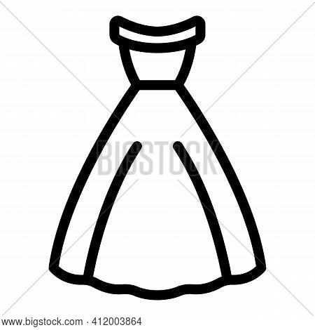 Marriage Dress Icon. Outline Marriage Dress Vector Icon For Web Design Isolated On White Background