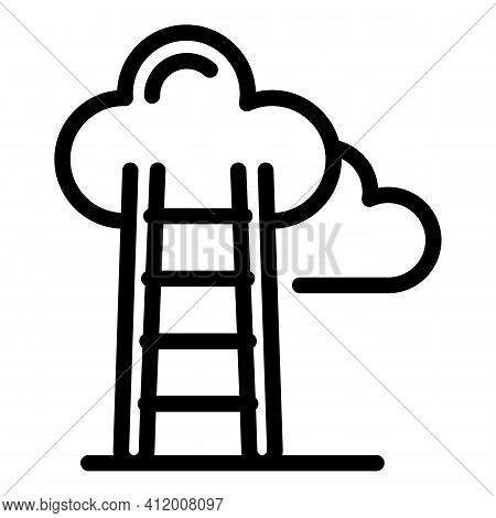 Career Ladder Icon. Outline Career Ladder Vector Icon For Web Design Isolated On White Background