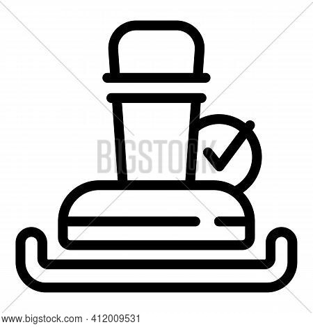 Campaign Stamp Icon. Outline Campaign Stamp Vector Icon For Web Design Isolated On White Background