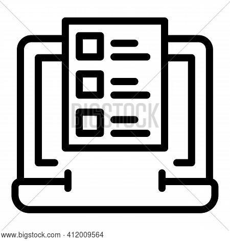 Campaign Statistics Icon. Outline Campaign Statistics Vector Icon For Web Design Isolated On White B