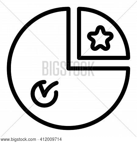 Voting Democracy Icon. Outline Voting Democracy Vector Icon For Web Design Isolated On White Backgro