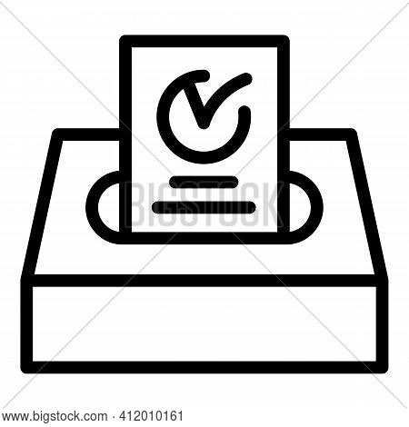 Vote Policy Democracy Icon. Outline Vote Policy Democracy Vector Icon For Web Design Isolated On Whi