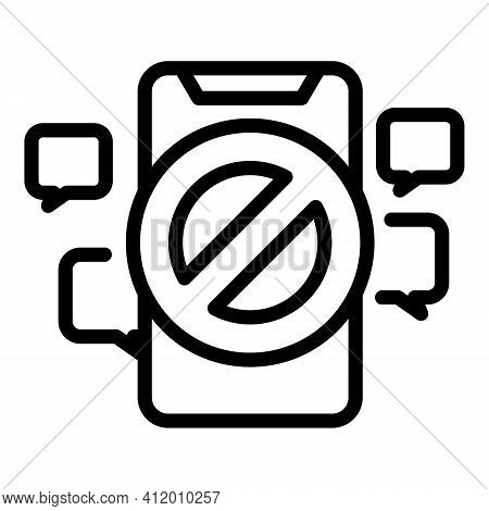 Phone Democracy Icon. Outline Phone Democracy Vector Icon For Web Design Isolated On White Backgroun