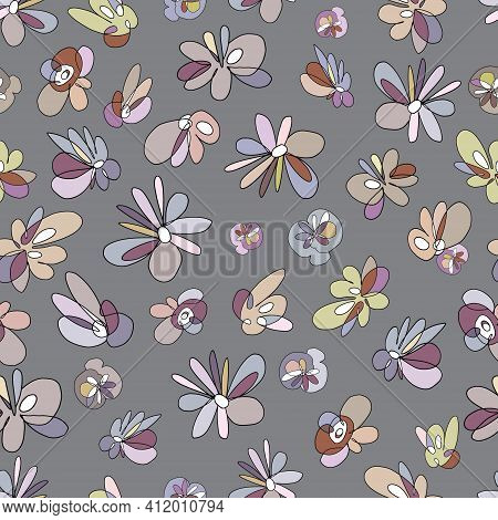 Floral Abstract Seamless Pattern Can Be Used For Wallpaper, Website Background, Textile Printing. An