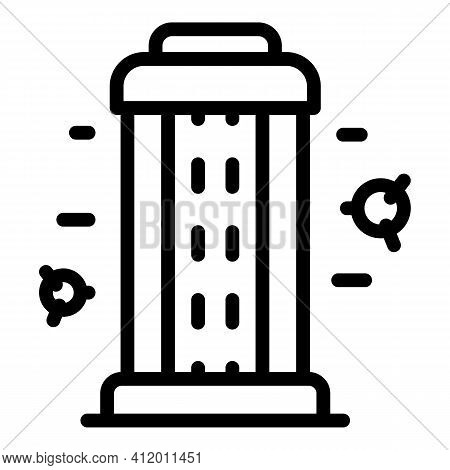 Uv Light Disinfection Icon. Outline Uv Light Disinfection Vector Icon For Web Design Isolated On Whi