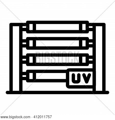 Bactericidal Uv Light Icon. Outline Bactericidal Uv Light Vector Icon For Web Design Isolated On Whi