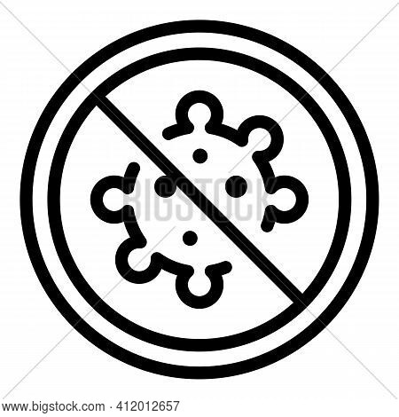 Stop Virus Icon. Outline Stop Virus Vector Icon For Web Design Isolated On White Background
