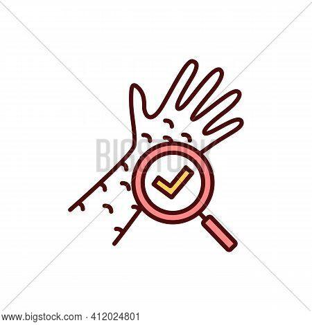 Regular Skin Checks Rgb Color Icon. Red, Itchy Rash. Identifying Skin Cancer Signs. Melanoma, Carcin