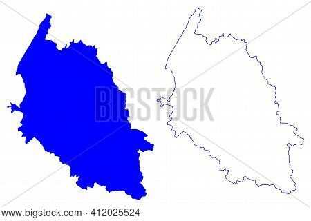 Verona Province (italy, Italian Republic, Veneto Or Venetia Region) Map Vector Illustration, Scribbl