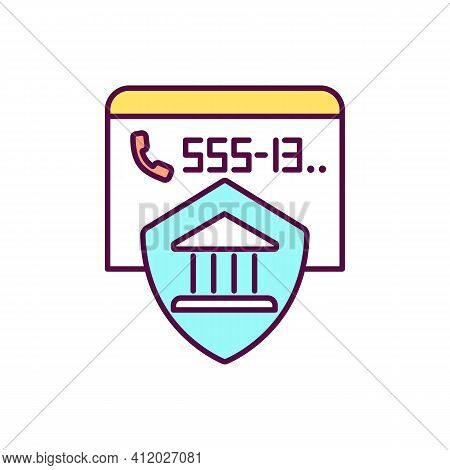 Bank Hotline For Customers Rgb Color Icon. Blocking Lost Or Stolen Credit Card. Banking Security. Ph