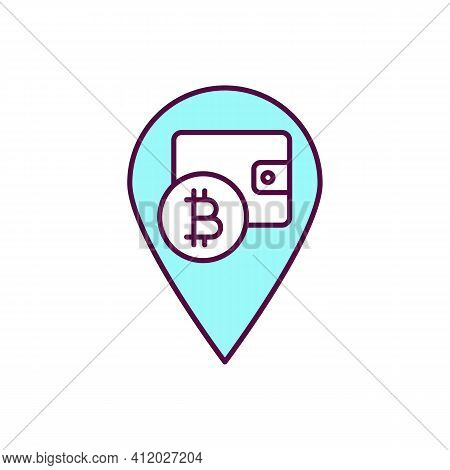 Cryptocurrency Hacks Rgb Color Icon. Getting Digital Currencies By Illegal Means. Phishing And Scamm