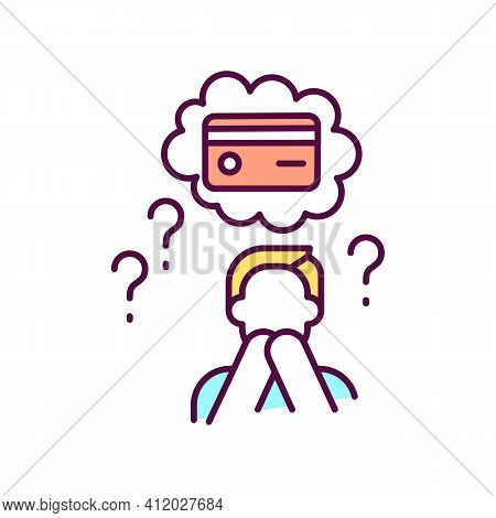 Lost Or Stolen Of Credit Card Rgb Color Icon. Unauthorized Charges. Bogus Transactions And Fraudulen
