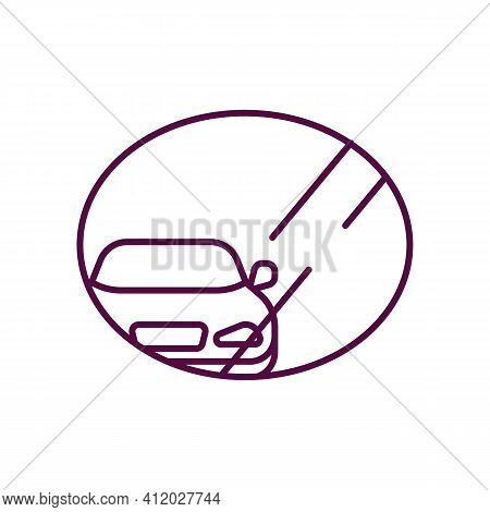 Drive Thru Atm Safety Black Rgb Color Icon. Automated Teller Machines. Robbery Of Person. Wallets An
