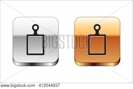 Isometric Cutting Board Icon Isolated On White Background. Chopping Board Symbol. Red, Blue And Gree
