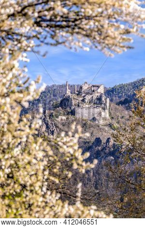 Durnstein Castle During Spring Time In Wachau Valley, Austria