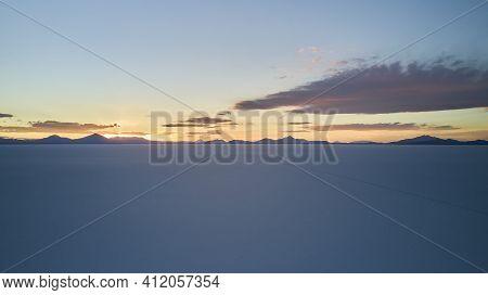 Aerial Of Salar De Uyuni, Salar De Tunupa, Worlds Largest Salt Flat, In The Altiplano Of Bolivia In