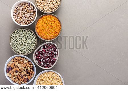 Different Types Of Legumes In Bowls