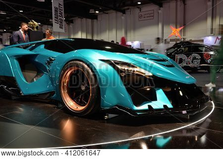 Dubai, Uae - November 16: The Ajlani Motors Drakuma Concept Is On Dubai Motor Show 2019 On November