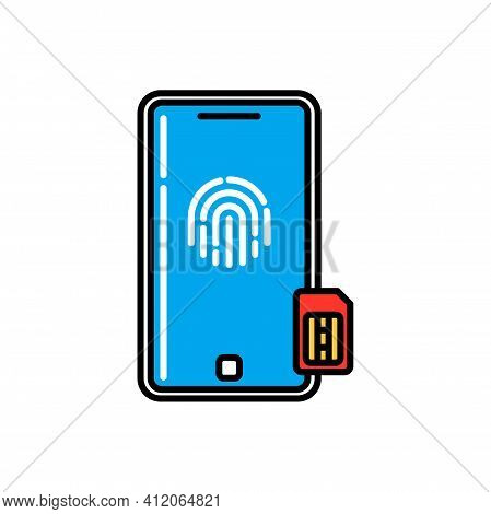 Mobile Device Personal Data Security, General Data Protection And Regulation Of Information On Datab