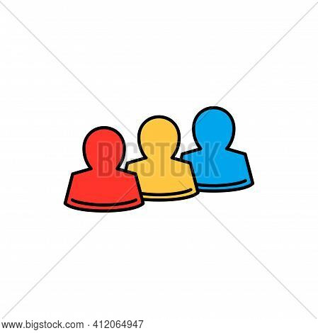 Racial And Ethnic Origin Data Protection, Icons Of People. Vector Gdpr General Data Protection Infor