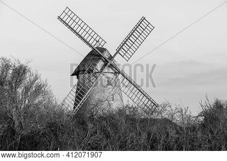 High Ham. Somerset. United Kingdom. March 7th 2021. View Of Stembridge Mill In High Ham In Somerset.