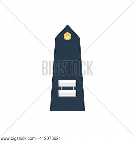 Naval Captain Enlisted Military Rank Stripe Isolated Icon. Vector United States Marine Forces Army C
