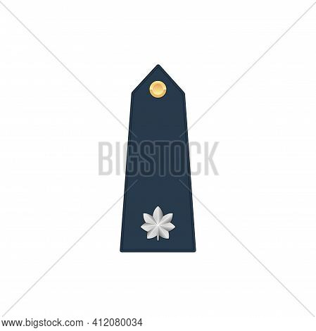 Colonel Lieutenant Military Stripe, Commander Rank Isolated Insignia Icon. Vector Commissioned Or No