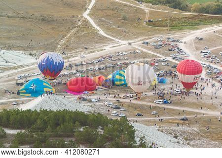 Russia, Crimea, Belogorsk September 19, 2020-preparation For The Launch Of Balloons At The Festival