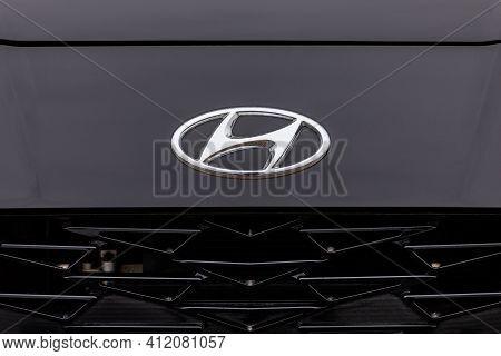 Prague, Czech Republic - January 6, 2021: Logo Of Hyundai Vehicle In Prague, Czech Republic, January