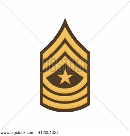 Sergeant Major Sgm Soldier Military Rank Insignia Isolated Icon. Vector United States Armed Forces C