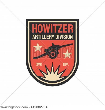 Howitzer Artillery Division, Short Gun For Firing Shells On High Trajectories Isolated Military Chev