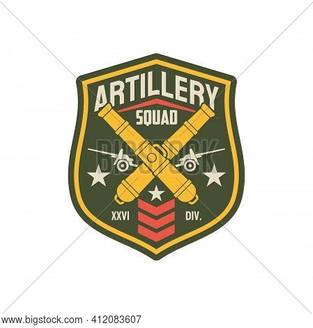 Squad Of Artillery Division Bombs And Aviation Airplane Isolated Military Chevron With Officer Rank,