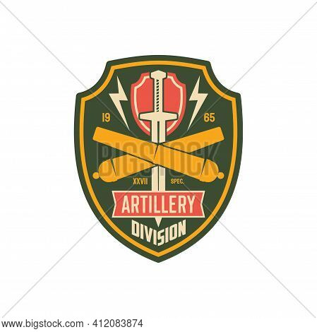 Artillery Army Unit To Defense In Battle Isolated American Fighting Forces Seal, Patch On Officer Un