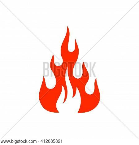 Ignition Emblem, Burning Flammable Fire Isolated Symbol Of Devil And Passion. Vector Fireproof Rescu