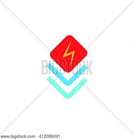 Boost Flat Icon. Fast Speed Symbol. Logo Design Element