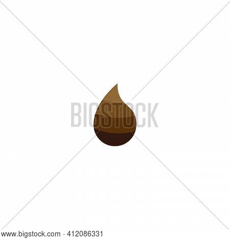 Fertilizer Flat Icon. Plant Manure Symbol.  Dung Sign. Logo Design Element.