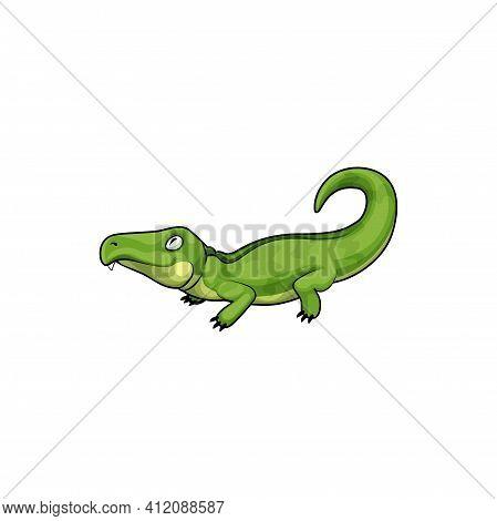 Pliosaurus Crocodile-like Lizard Isolated Reptile Icon. Vector Pliosauroidea Extinct Short-necked Ma