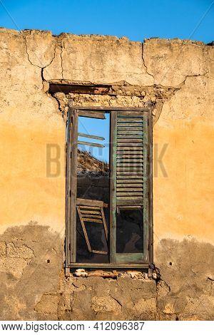 Abandoned Sulphur Mining Complex Trabia Tallarita In Riesi, Sicily, Italy
