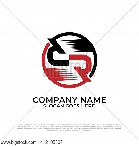 Initial Letter Dr Logo Design In The Circle, D And R Logo Vector, Best For Automotive And Sport Logo