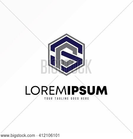 Letter Ps Or Sp Logo Abstarct Concept. Hexagon Design Vector. Can Be Used As A Symbol Related To Ini