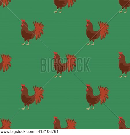 Seamless Vector Pattern With Pet Birds On A Blue Background. Background For Textiles, Covers, Screen