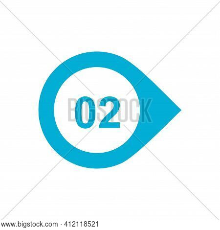 Number Two 2 Logo Icon Design Template Elements.