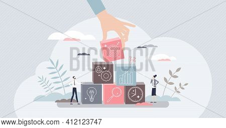Objective For Business As Successful Target Aim Results Tiny Person Concept