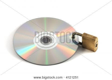 Secure Data: Cd/Dvd Locked By Padlock