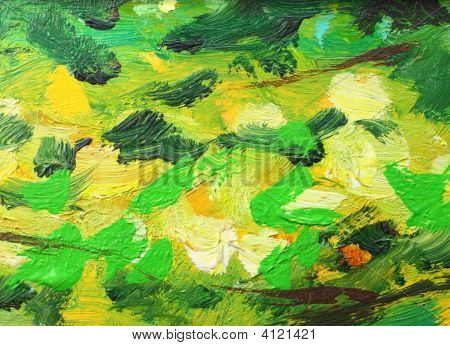 Abstract Oil Painting Background